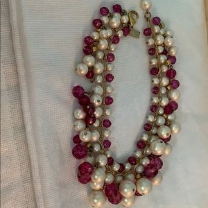 Kate Spade Pink Gold and Pearl Necklace